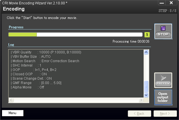Sofdec2 Encoding Wizard