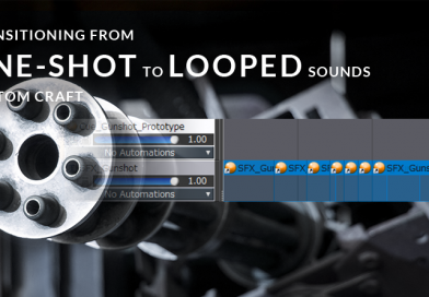 Transitioning from One-Shot to Looped Sounds in Atom Craft